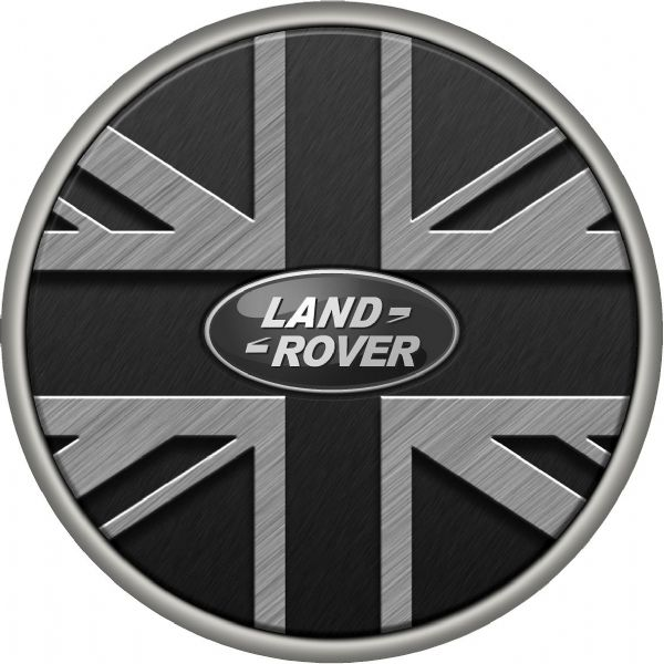 LAND ROVER UNION JACK  4x4 Spare Wheel Cover DECAL STICKER